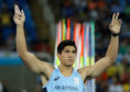Argentina's Braian Toledo competes in the men's javelin throw qualification, during the athletics competitions of the 2016 Summer Olympics.