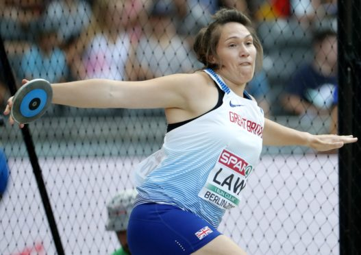 Kirsty Law, Scotland's top discus thrower and NHS worker. Photo: Felipe Trueba/EPA-EFE/Shutterstock (9785819l).