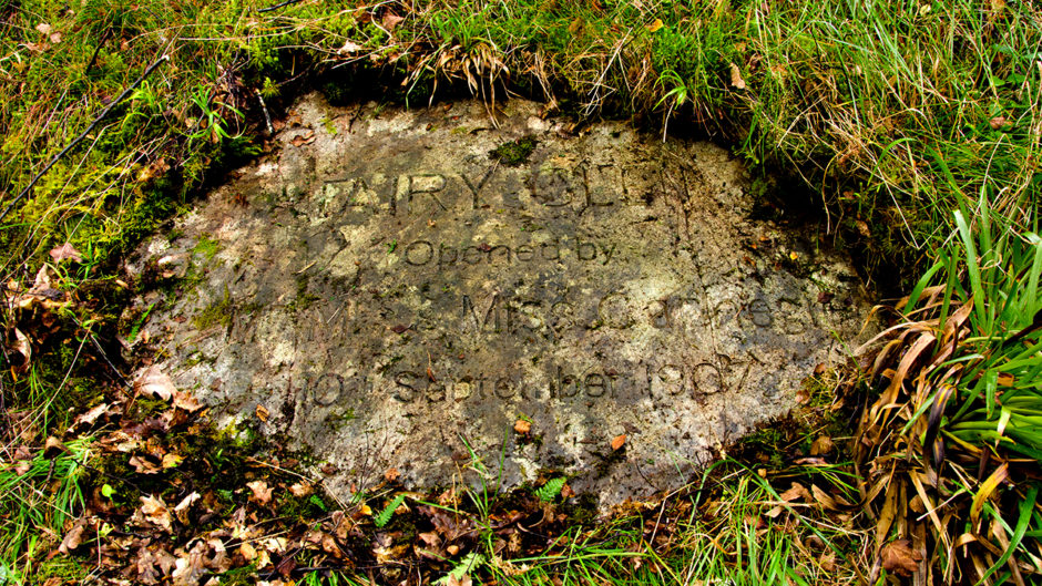 The stone which was uncovered last week at the Carnegie's Fairy Glen