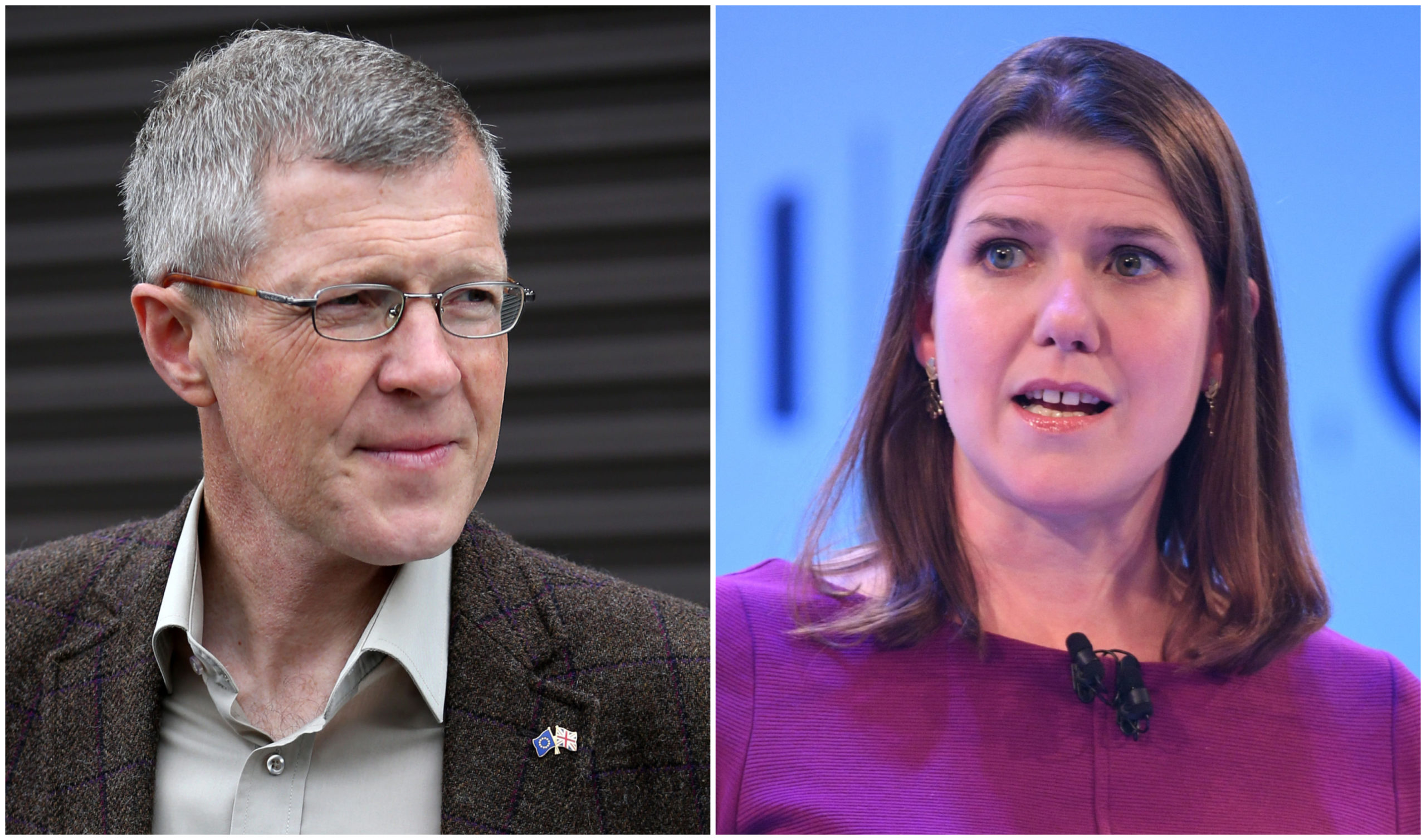 Willie Rennie and Jo Swinson.