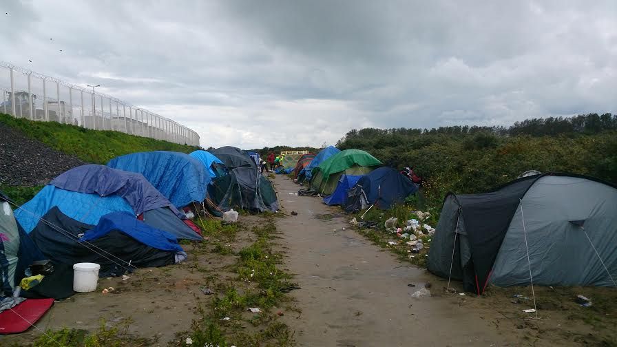 Calais refugee camp. Pic: Andrew Cawley
