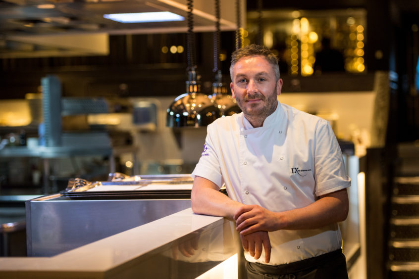 Kevin Dalgleish, Head Chef at Aberdeen's The Chester Hotel.