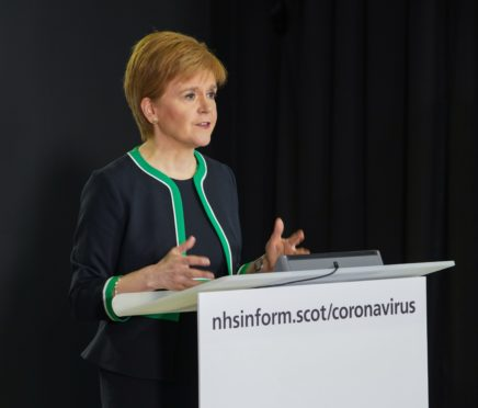 COVID-19 press conference - 8 April 2020 Scottish Government COVID-19 press conference at St. Andrew's House, Edinburgh with the First Minister, Nicola Sturgeon, Health Secretary, Jeanne Freeman and Deputy Chief Medical Officer for Scotland, Dr Gregor Smith.  Image from SG Flickr