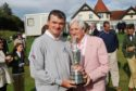 Doug Sanders with Paul Lawrie, at the 2010 Junior Open opening ceremony at Lundin Golf Club, Fife.