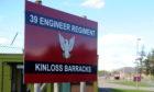 The main entrance to Kinloss Barracks.