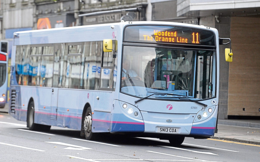 Number 11 bus service on Aberdeen's. Picture by Chris Sumner