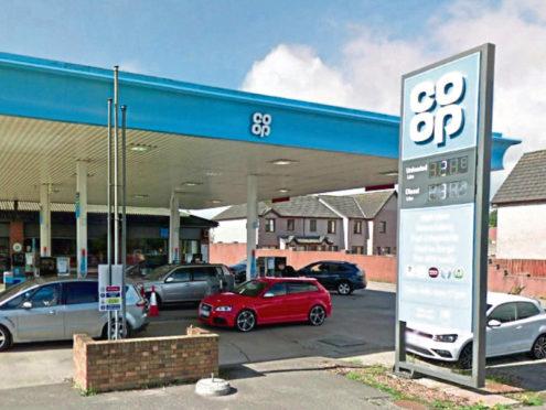Co-op Petrol Station, Kirkton Road, Stonehaven. Google Maps.