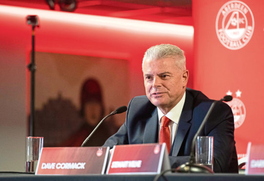 Aberdeen chairman Dave Cormack has laid bare the financial impact of the Covid-19 crisis.