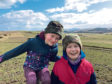 Ellie and Millie Ritchie from Montalt Farm in Perthshire.  Pic supplied by Quality Meat Scotland (QMS).