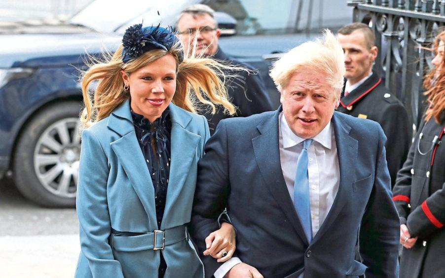 Prime Minister Boris Johnson and his partner, Carrie Symonds.