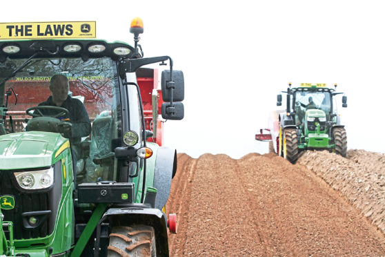 Farmers across Scotland are cracking on with potato planting.