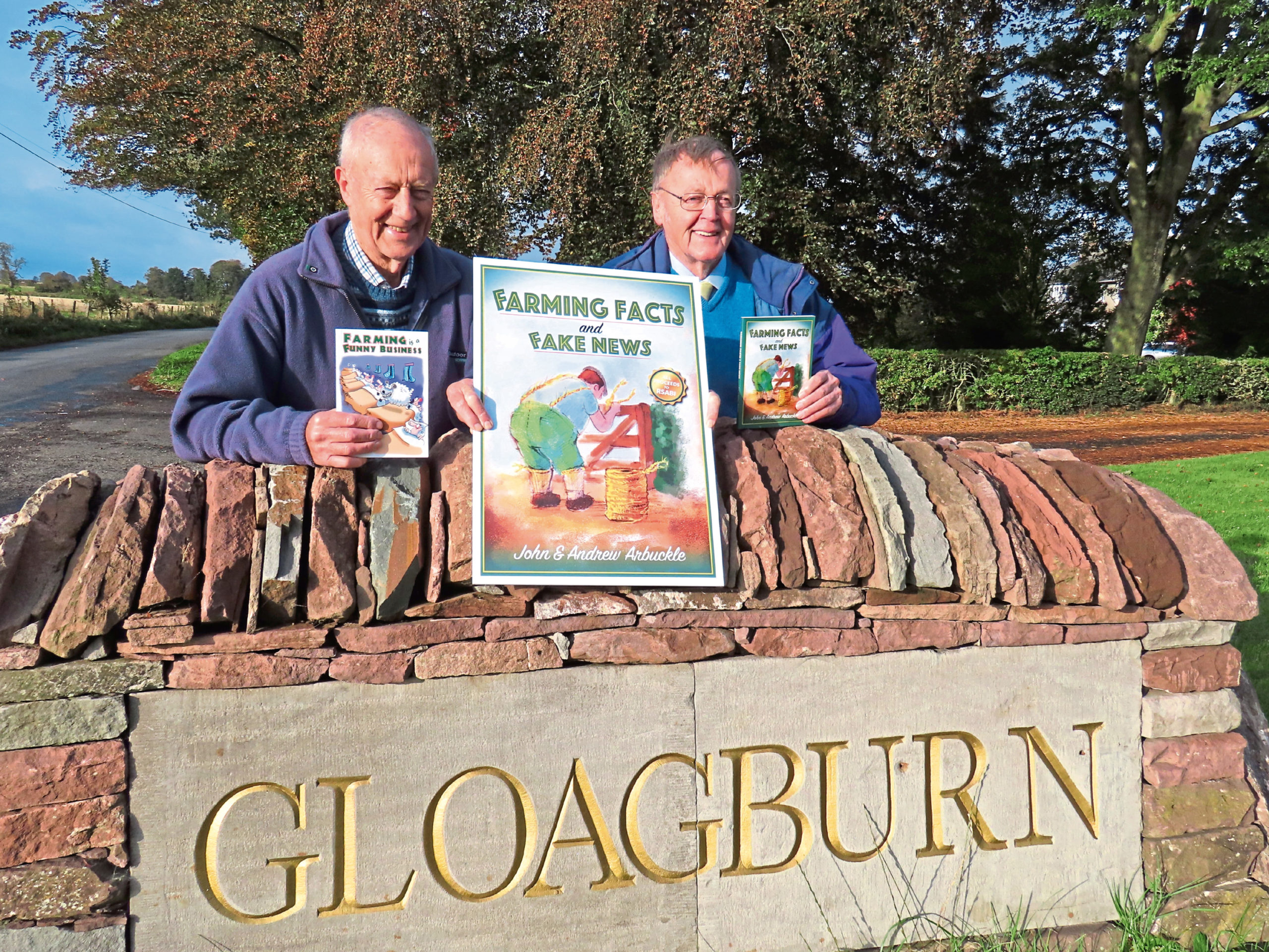 Books by John, left, and Andrew Arbuckle have collectively raised more than £72,000 for agricultural charity RSABI.