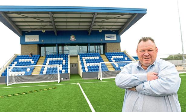 Keith Moorhouse at the Balmoral Stadium.