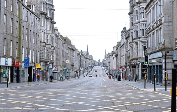 More than £13million has been distributed to businesses in Aberdeen to help them survive the Covid-19 pandemic.  Picture by Chris Sumner.