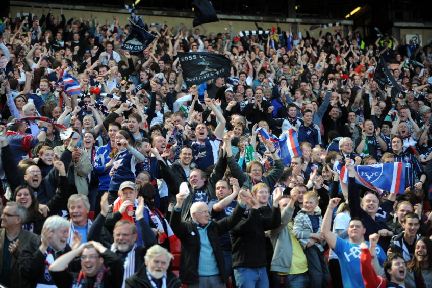 The Ross County fans at 2-0