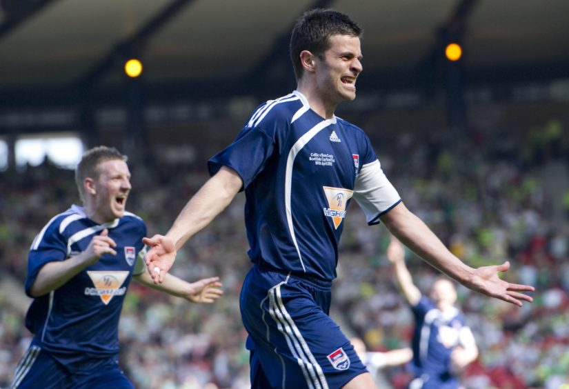 Ross County's Steven Craig celebrates putting his side ahead