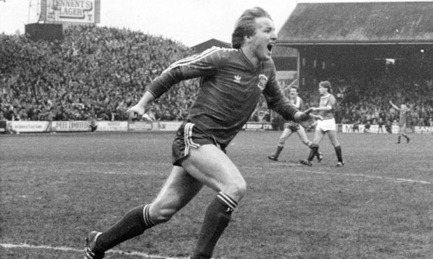 Frank McDougall was in hat-trick form during the 1984-85 season, scoring a treble against Rangers at Pittodrie.