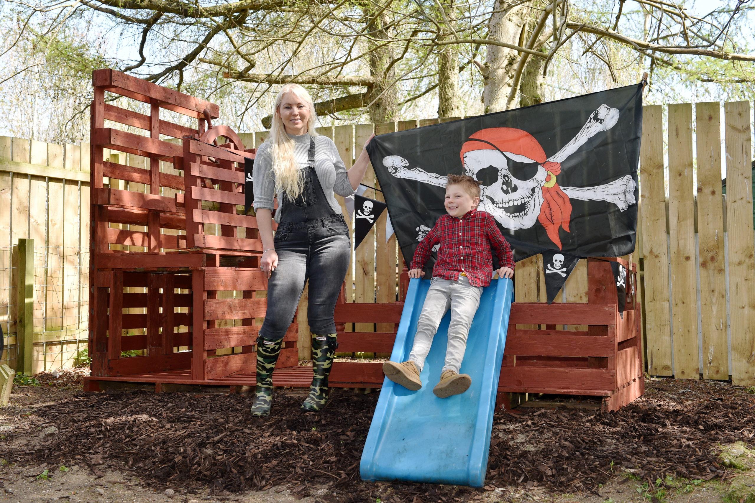 Michelle Barclay-Dunbar and her son Brandyn