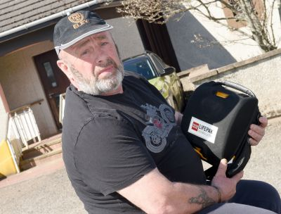 David Hodge led the campaign to get a defib machine in his village.