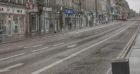 A deserted Union Street in Aberdeen during lockdown.