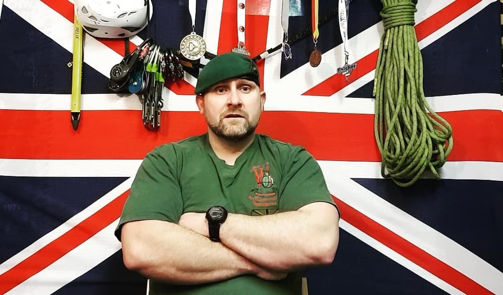 Kenny Simm, 37, served in the Royal Marines for 10 years.