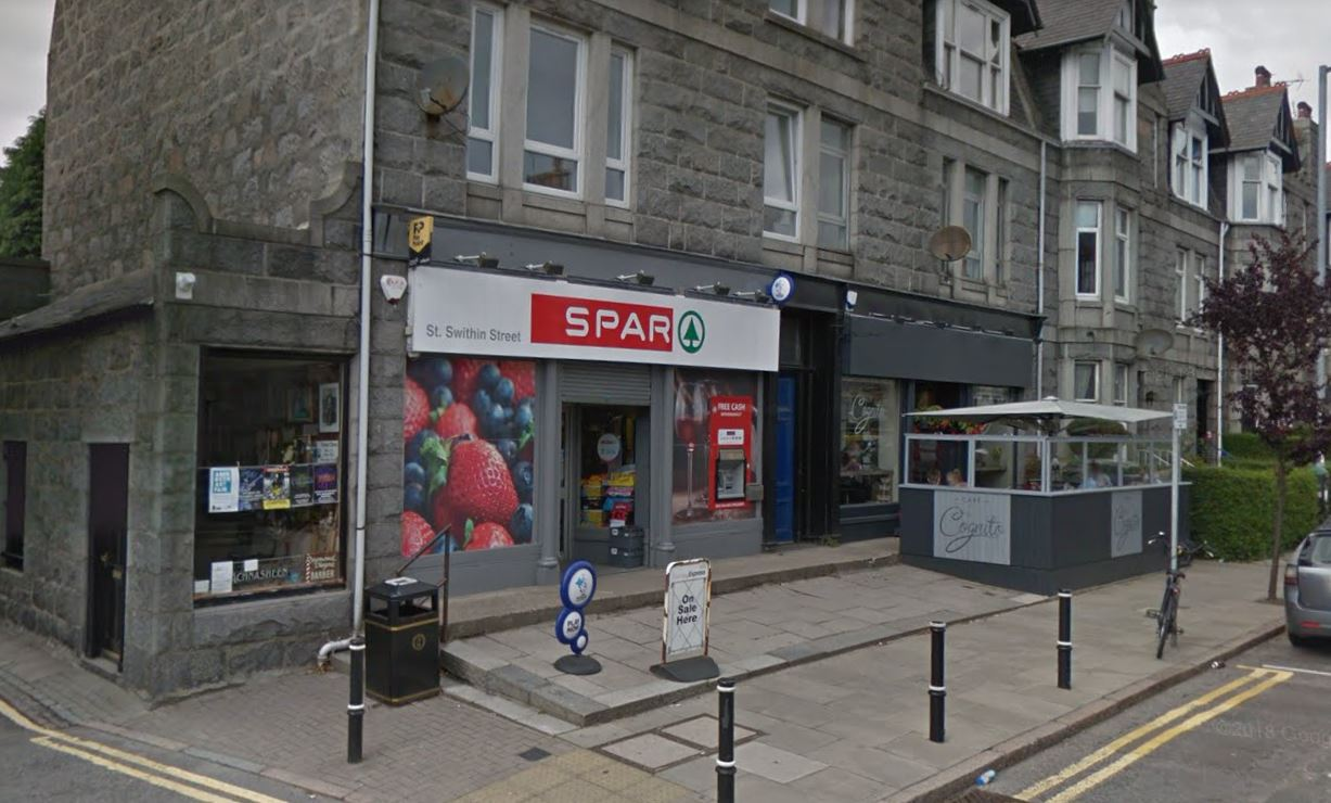 The Spar on St Swithin Street where the assault took place.