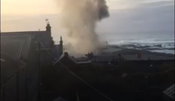 The shed fire in Macduff.