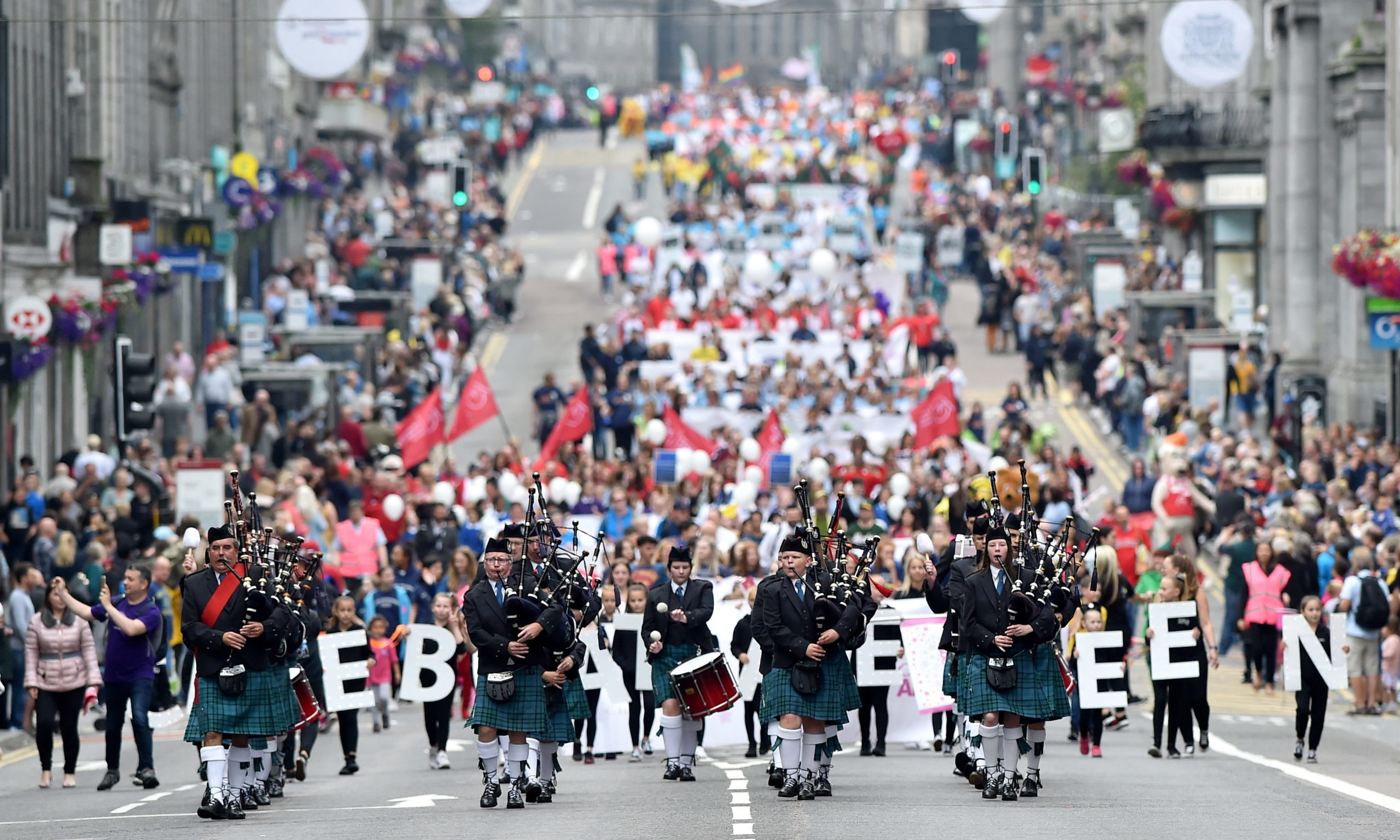 The Celebrate Aberdeen parade down Union Street in 2019. Picture by Scott Baxter.