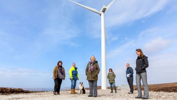 The Coigach turbine is now helping to generate crisis funds for the community.