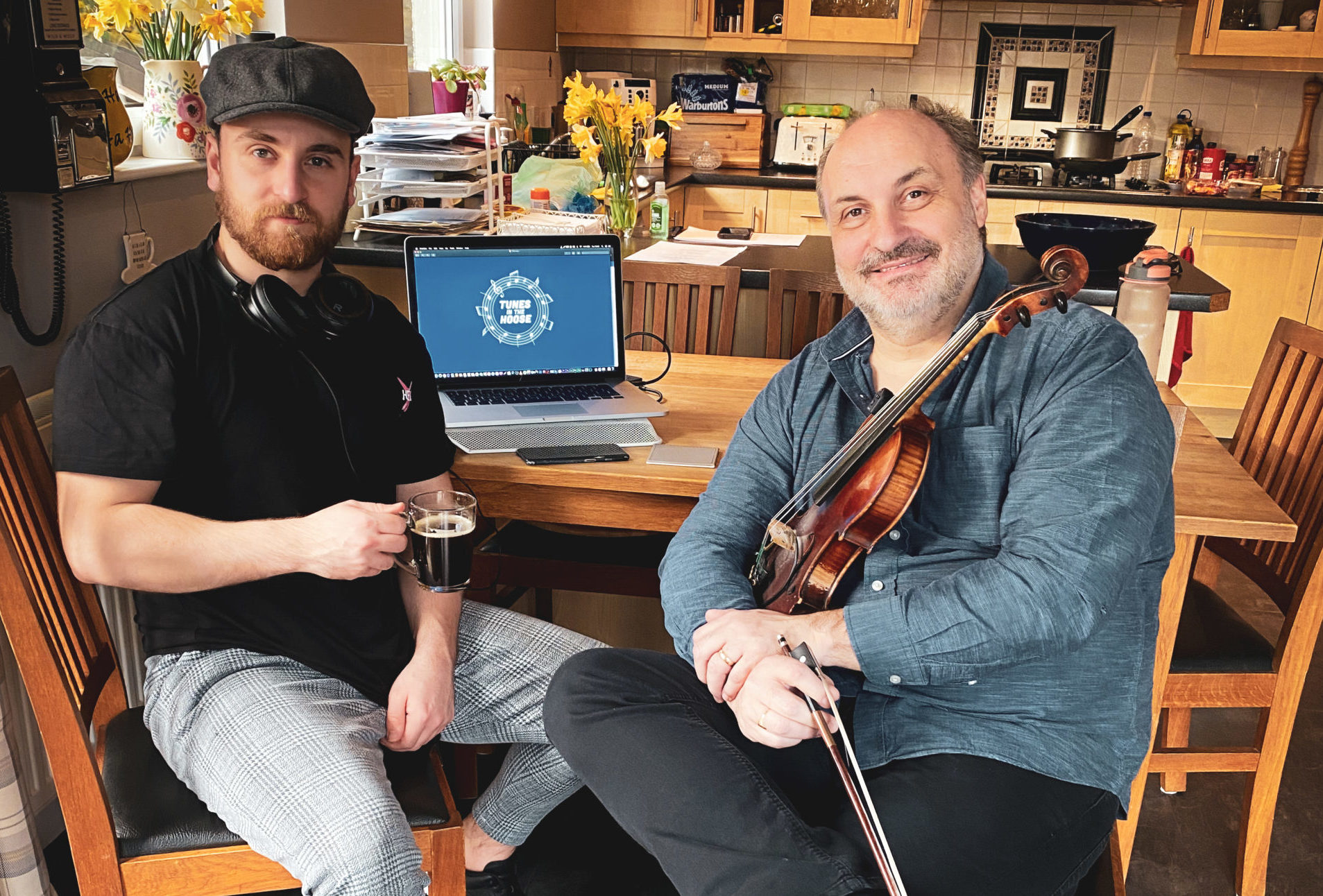 Father and son, both named Martin MacLeod, from the Tunes in the House project.