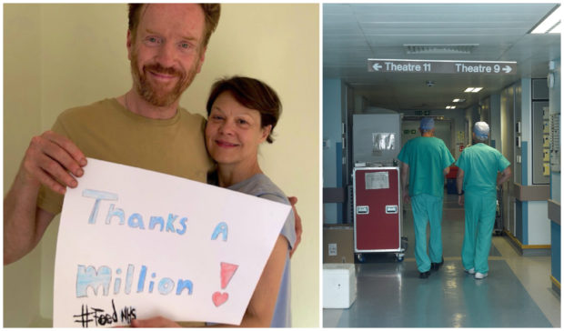 Damian Lewis and Helen McCrory launched the FeedNHS campaign.