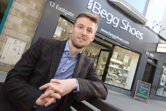Donald Begg, whose family owns Begg Shoes.