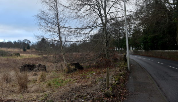 Pictured is a locator of the fields on Inchgarth Road, Cults, Aberdeen.  Picture by DARRELL BENNS