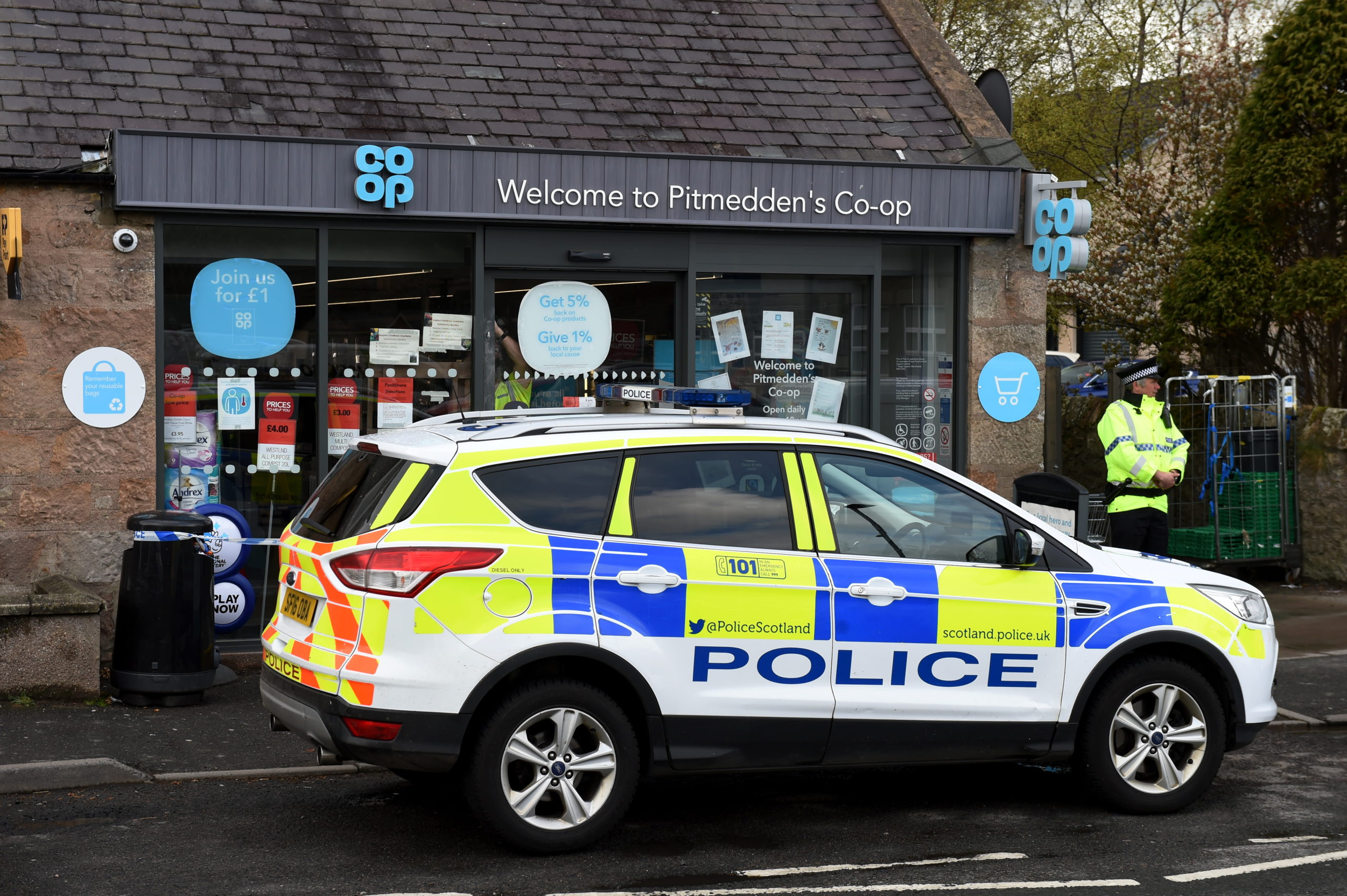 Police Scotland are appealing for information after a Co-op in Pitmedden was broken into.