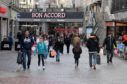 Shoppers at Aberdeen's Bon Accord Centre