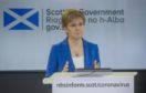 Scotland's First Minister Nicola Sturgeon holds a COVID-19 press briefing.