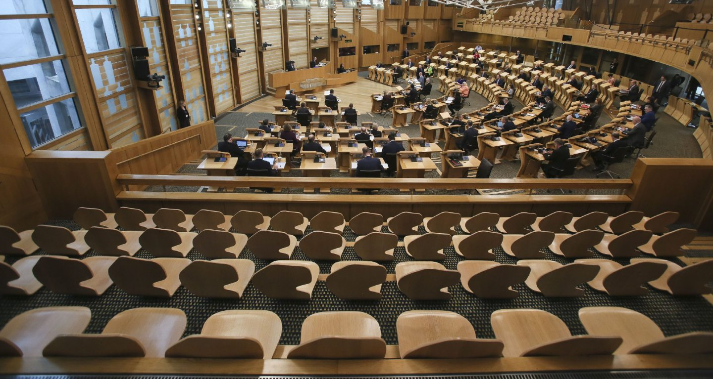 Holyrood will use a combination of technology and social distancing to return to business.