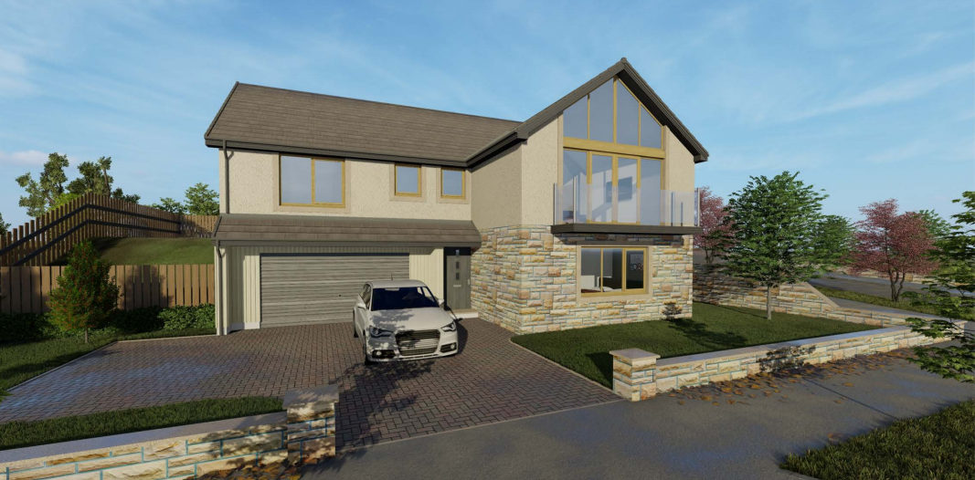 An artist impression of one of the homes proposed for the Hopeman development.