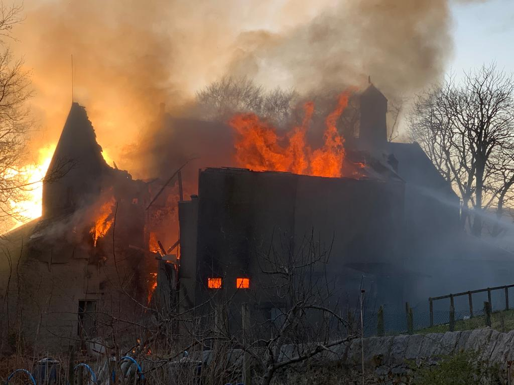 The fire destroyed much of the property at Montgarrie Mill