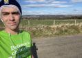 Jamie Rendall is running 10km a day for Barnardo's Scotland.