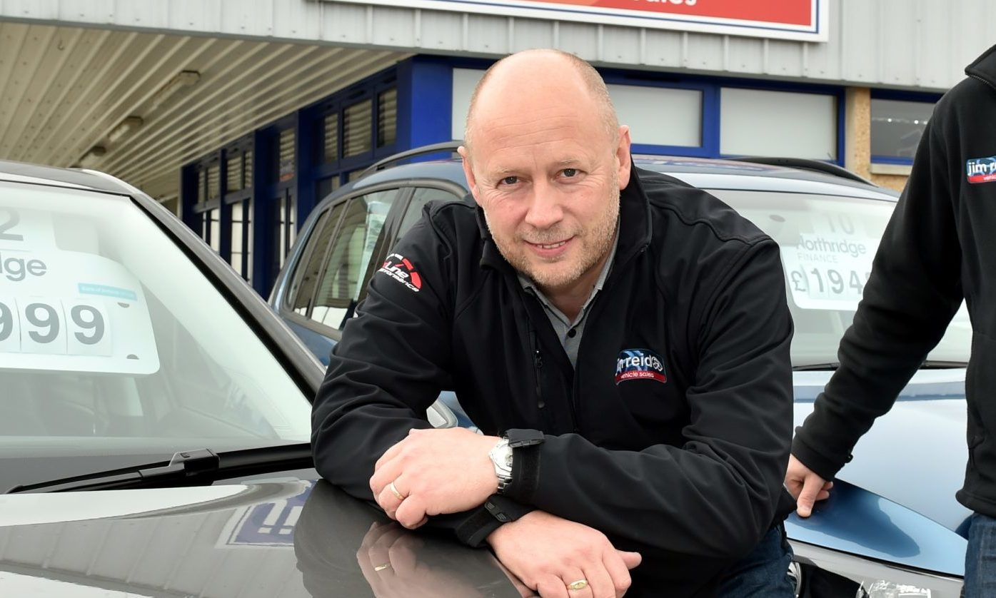 Jim Reid, the director of Jim Reid Vehicle Sales in Inverurie