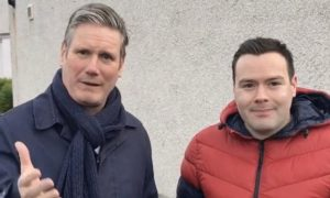 Labour leader Keir Starmer and 2019 Ross, Skye and Lochaber candidate John Erskine
