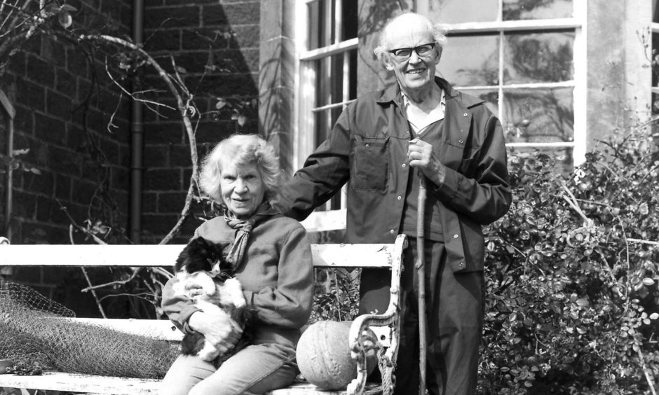 John Lorne Campbell and Margaret Fay Shaw at Canna House.