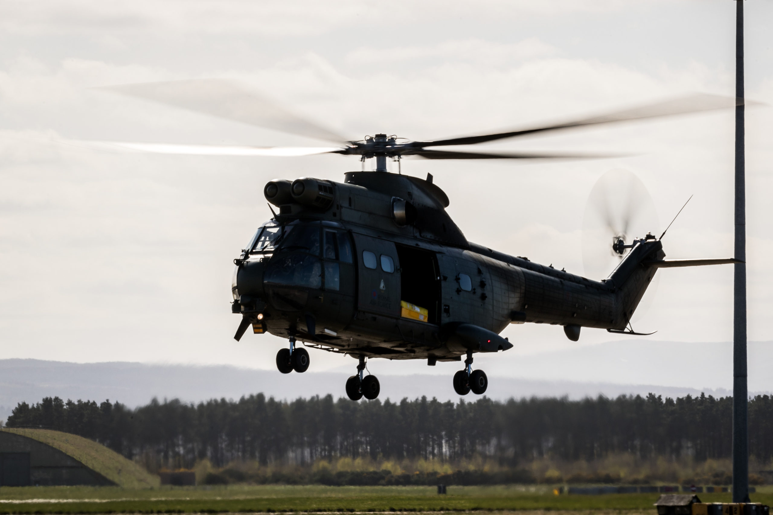 Three Puma helicopters have deployed to Kinloss Barracks.