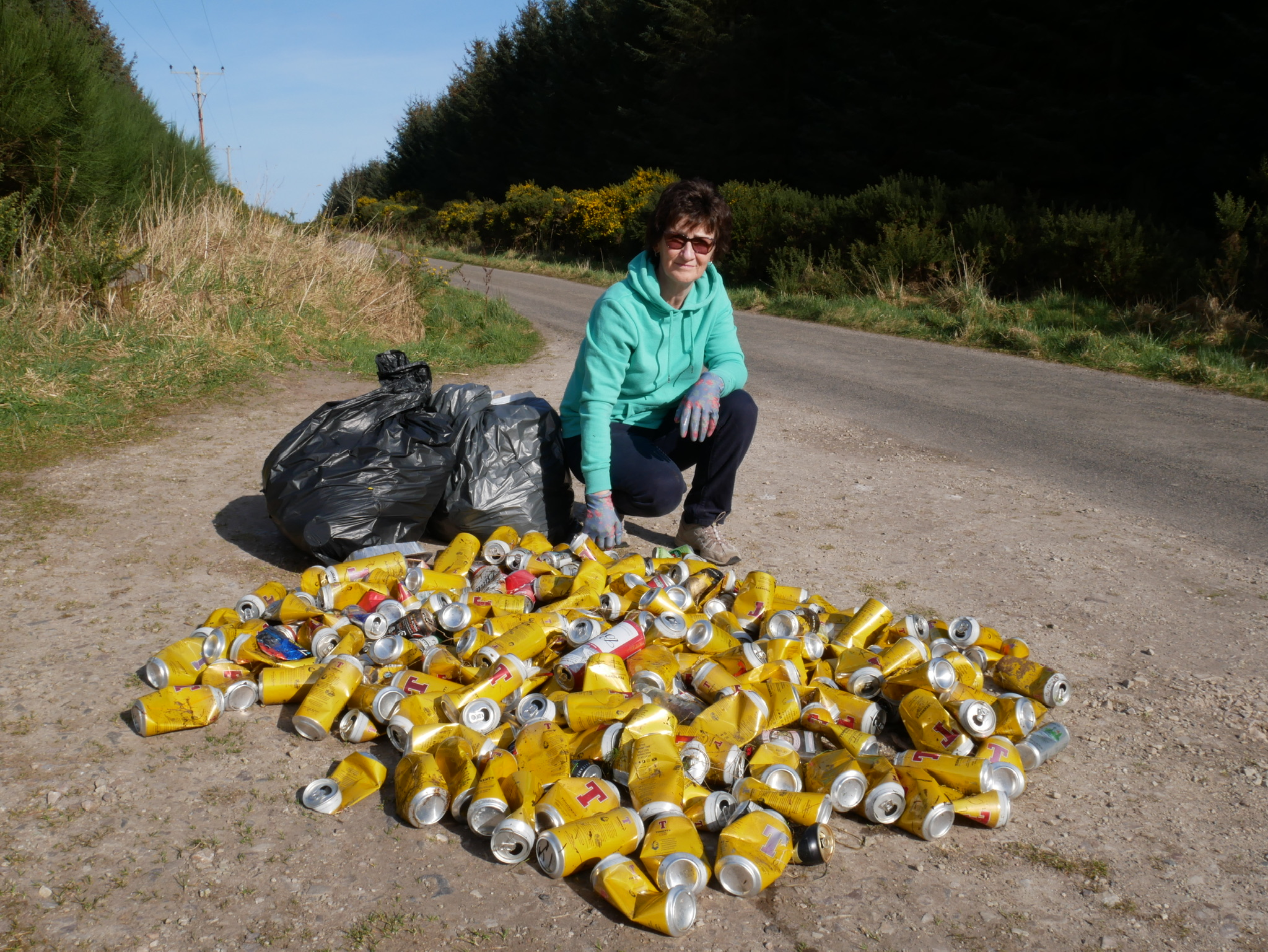 Lorna Sinclair was disappointed to discover this rubbish while out on walk.
