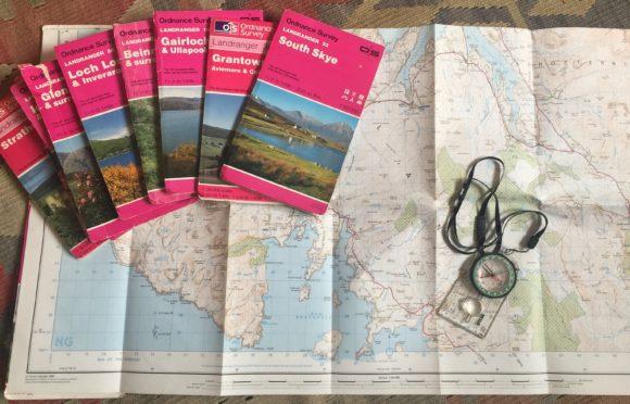 A collection of Ordnance Survey Landranger maps of Scotland