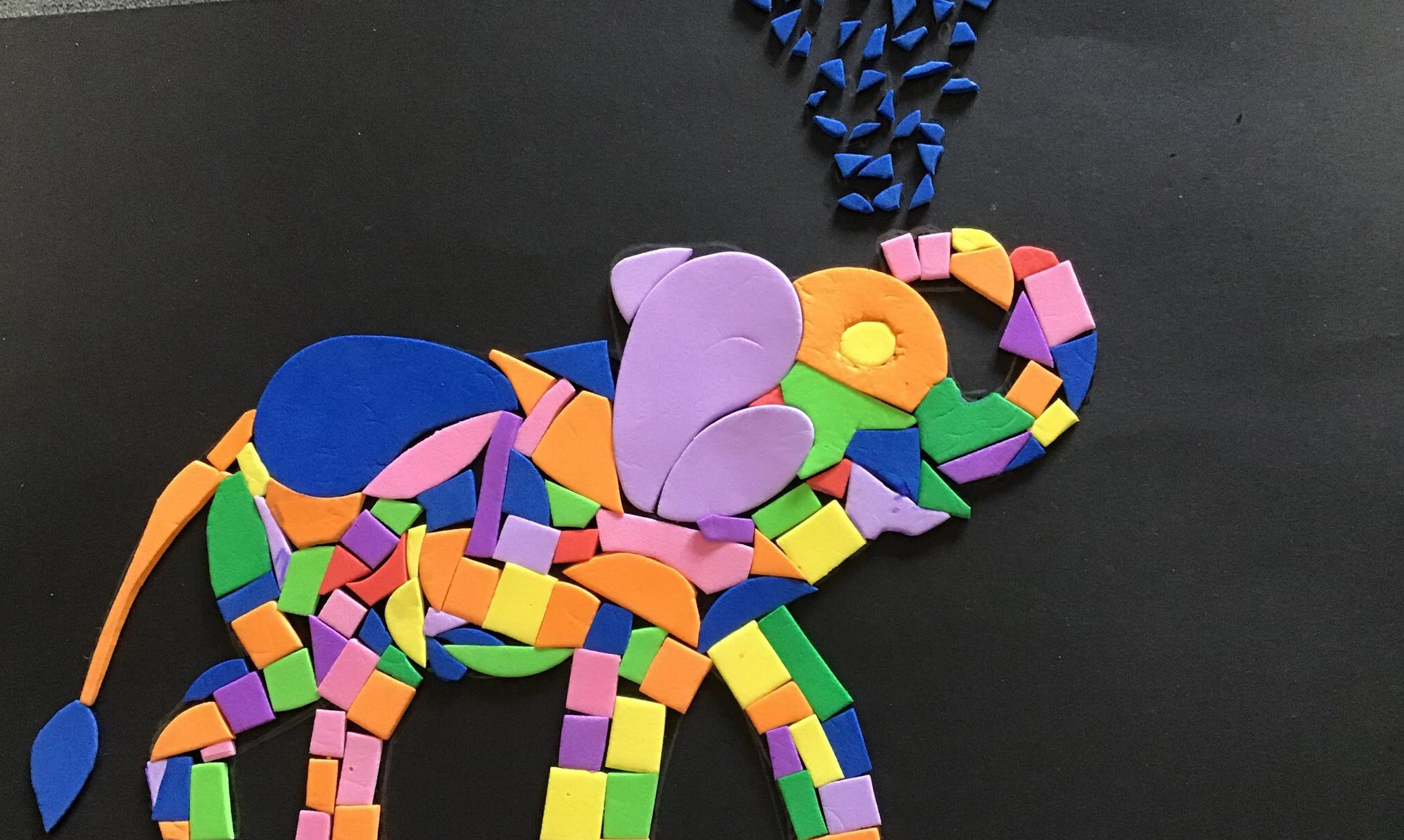 Culter School pupils have been creating mosaics.