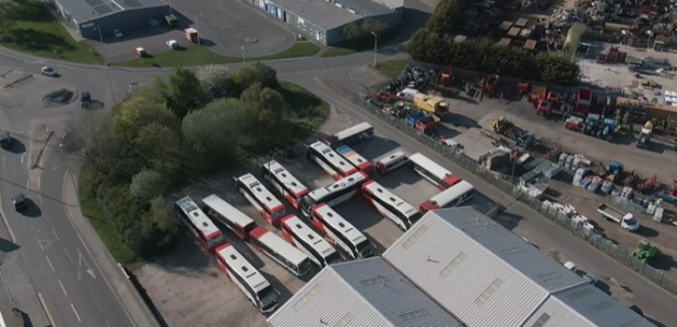 16 buses were involved in the event at Stagecoach's Elgin depot.
