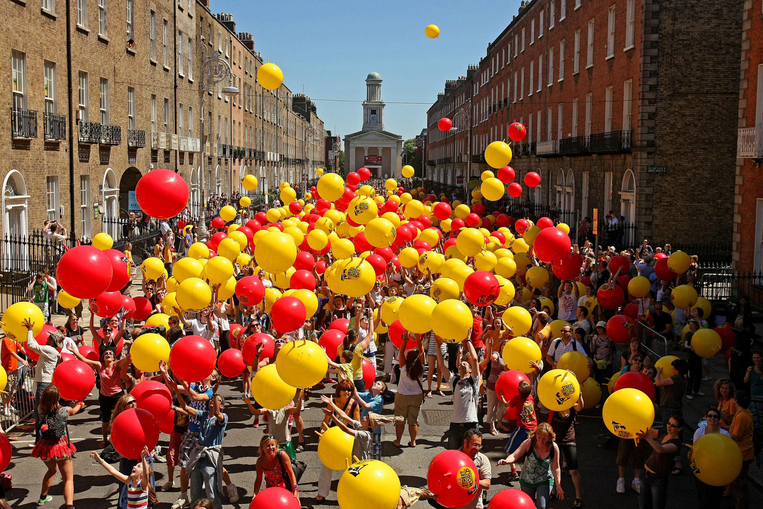 Space Hoppers, on Merrion Square in Dublin.