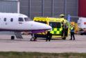 CR0000000 Medivac flight from Teneriffe to Aberdeen.  Pic by...............Chris Sumner Taken...............10/04/2020
